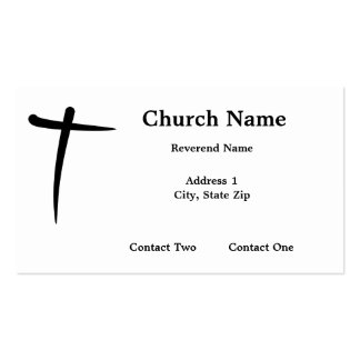 Tarjetas de visita cruzadas cristianas entintadas