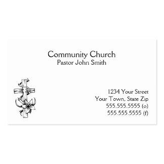Tarjetas de visita cruzadas de la iglesia