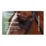 Tarjetas de visita cuartas del perfil del caballo