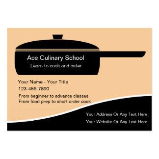 Tarjetas de visita culinarias de la escuela