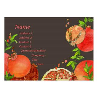 Tarjetas de visita de abastecimiento de las frutas