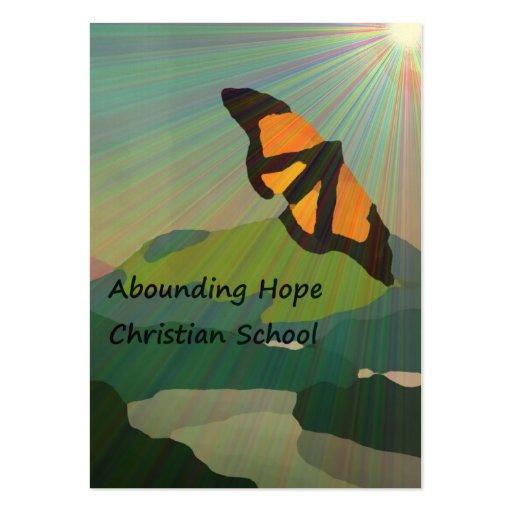 Tarjetas de visita de abundancia de la esperanza