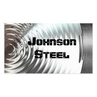Tarjetas de visita de acero de la mirada del metal