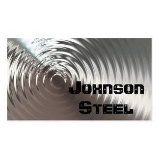 Tarjetas de visita de acero del metal