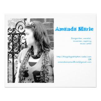 Tarjetas de visita de Amanda Marie Flyer Personalizado
