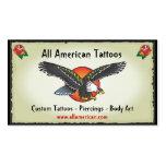 Tarjetas de visita de American Eagle del tatuaje