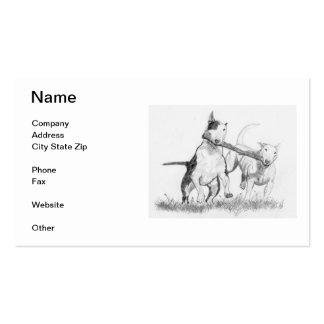 Tarjetas de visita de bull terrier