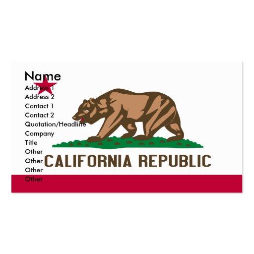 Tarjetas de visita de CALIFORNIA