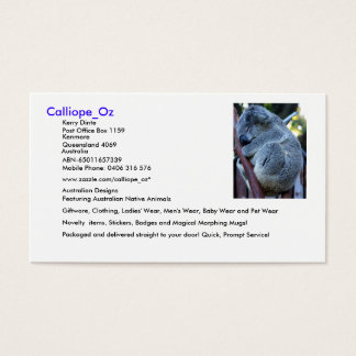 Tarjetas de visita de Calliope_Oz