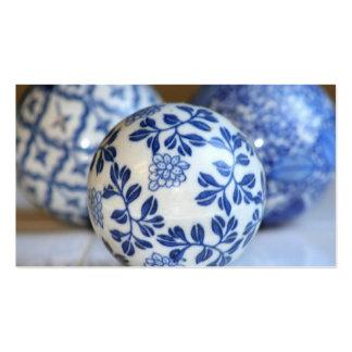 Tarjetas de visita de cerámica asiáticas de las es