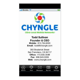Tarjetas de visita de Chyngle - Todd