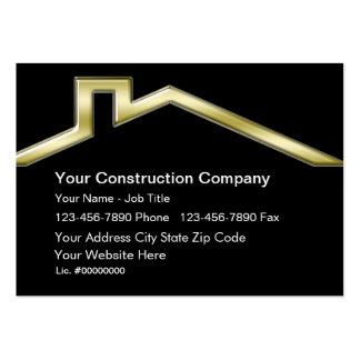 Tarjetas de visita de construcción