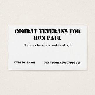 Tarjetas de visita de CVRP