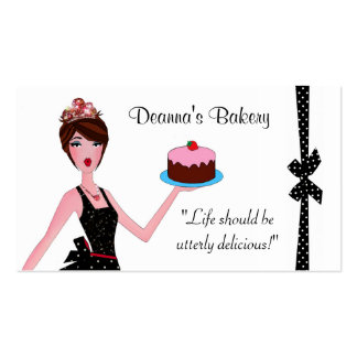 Tarjetas de visita de DIVAlicious de los pasteles