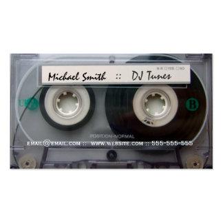 Tarjetas de visita de DJ de la cinta de casete