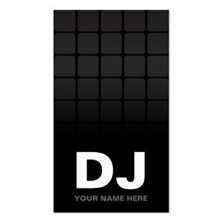Tarjetas de visita de DJ de la pendiente de Techno