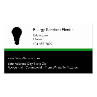 Tarjetas de visita de Electrian