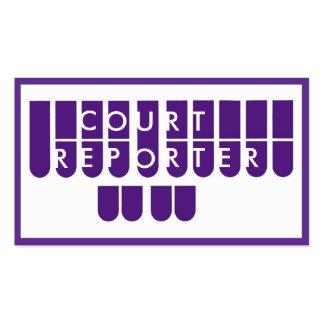 Tarjetas de visita de encargo blancas púrpuras del