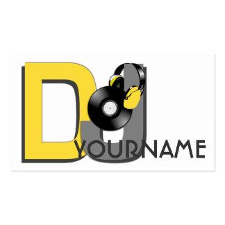 Tarjetas de visita de encargo de DJ