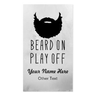 Tarjetas de visita de encargo de la barba