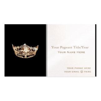 Tarjetas de visita de encargo de la corona del