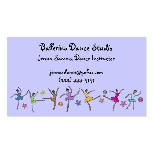 Tarjetas de visita de encargo de la danza de la ba