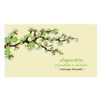 Tarjetas de visita de encargo de la flor de cerezo