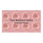 Tarjetas de visita de encargo de la flor rosada de