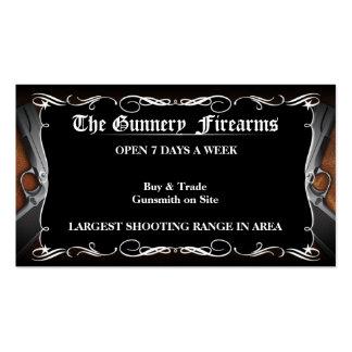 Tarjetas de visita de encargo de la tienda de arma