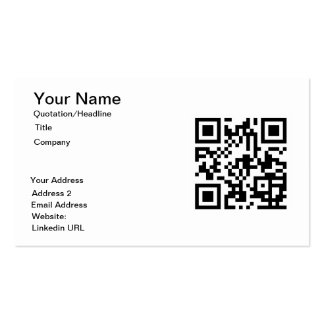 Tarjetas de visita de encargo del código de QR