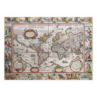 Tarjetas de visita de encargo del mapa del mundo a