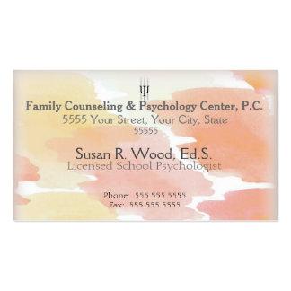 Tarjetas de visita de encargo del psicólogo de la