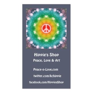 Tarjetas de visita de encargo ideales del Hippie