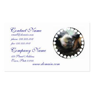Tarjetas de visita de Guenon del lobo