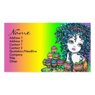 Tarjetas de visita de hadas del arte de la torta d