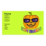 Tarjetas de visita de Halloween Jack O'Lantern