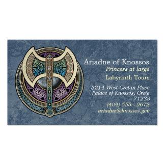 Tarjetas de visita de Knotwork Labrys