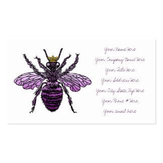 Tarjetas de visita de la abeja reina de Carleigh