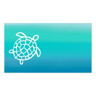Tarjetas de visita de la acuarela del océano de la