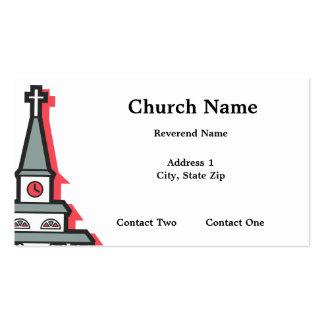 Tarjetas de visita de la aguja de la iglesia