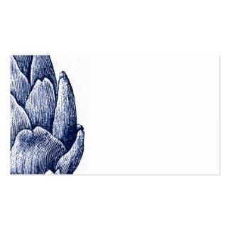 Tarjetas de visita de la alcachofa