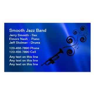 Tarjetas de visita de la banda de jazz