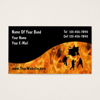 Tarjetas de visita de la banda de rock