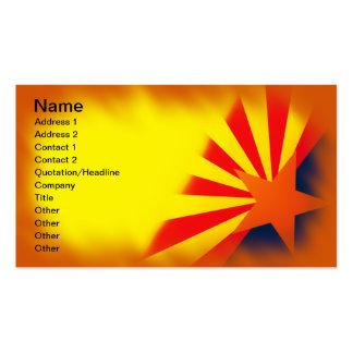 Tarjetas de visita de la bandera de Arizona