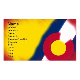 Tarjetas de visita de la bandera de Colorado