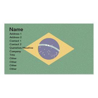 Tarjetas de visita de la BANDERA del BRASIL