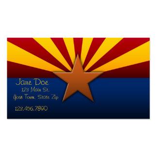 Tarjetas de visita de la bandera del estado de Ari