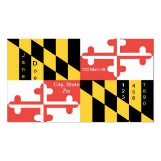 Tarjetas de visita de la bandera del estado de Mar