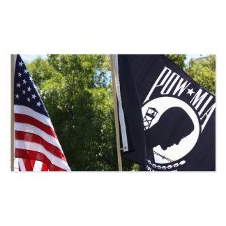Tarjetas de visita de la bandera del PRISIONERO DE