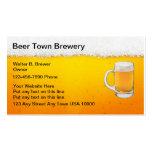 Tarjetas de visita de la barra de la cerveza